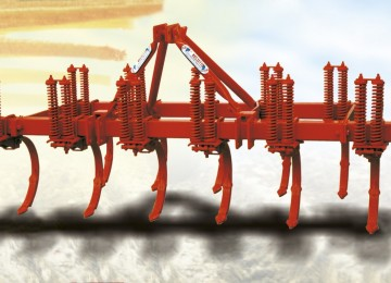 double-blade two springs cultivator