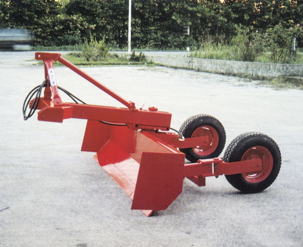 ruspa livellatrice m 3,00 con carrello idraulico