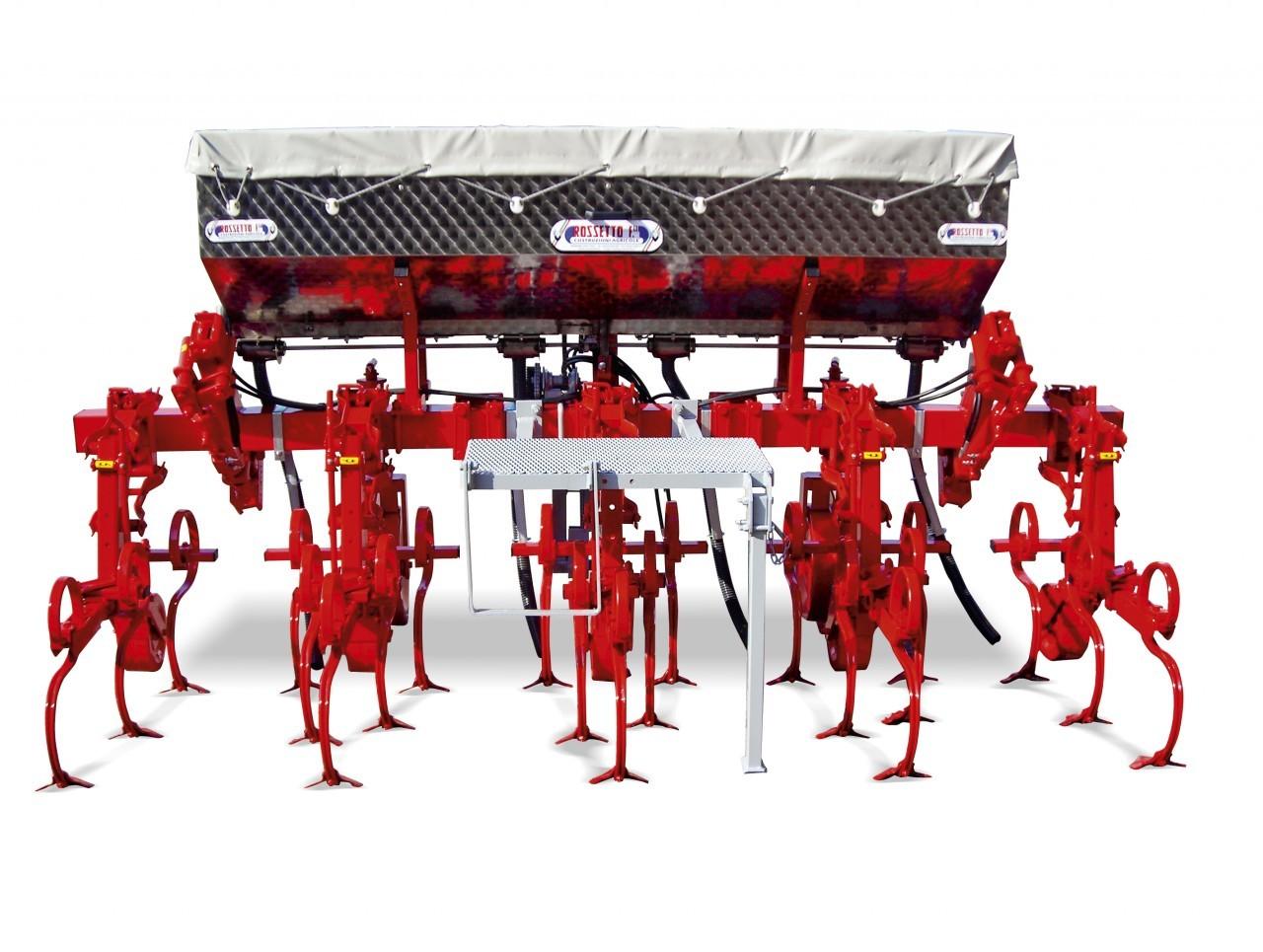SV 4 rows weeder with inox spreader-manure